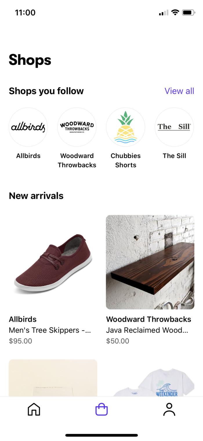 Shopify's Shop.app brands interface